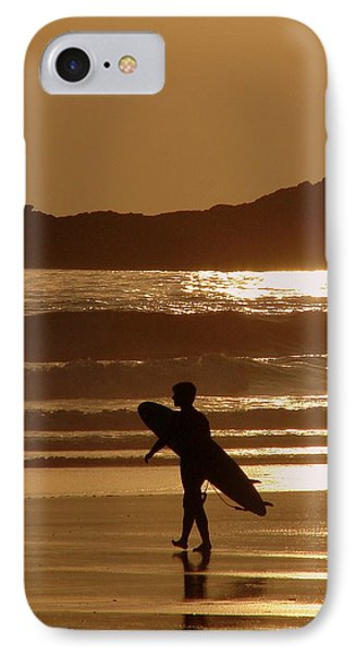 Sunset Surfer Phone Case by Ramona Johnston