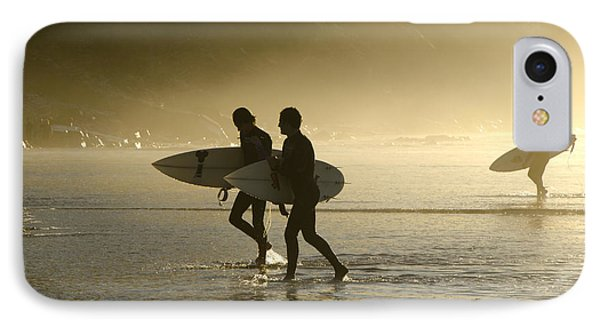 Sunset Surfers Biarritz IPhone Case by Perry Van Munster
