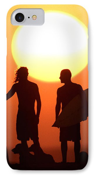 Sunset Surfers Phone Case by Sean Davey