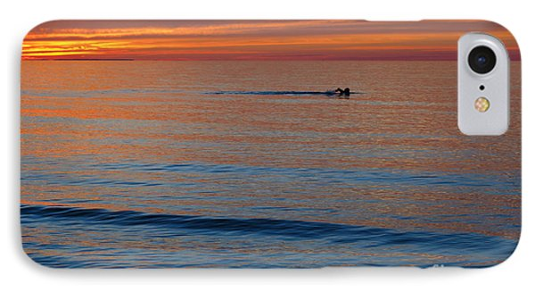 IPhone Case featuring the photograph Sunset Swimmer by Maria Janicki