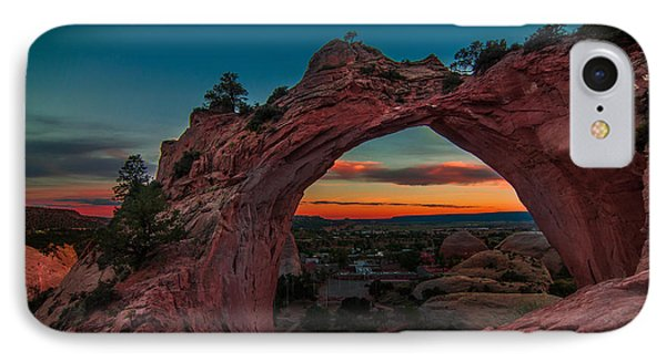 Sunset Through Window Rock IPhone Case by Erica Hanks