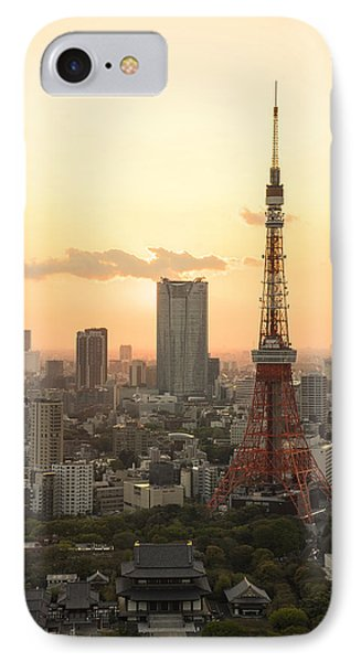 Sunset Tokyo Tower IPhone Case by For Ninety One Days