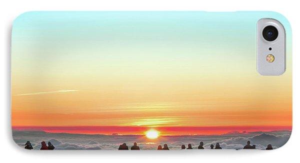 Sunset Tourism On Haleakala IPhone Case by Babak Tafreshi