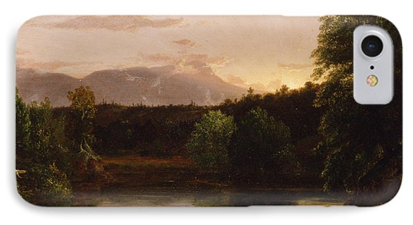 Sunset  View On Catskill Creek IPhone Case by Thomas Cole