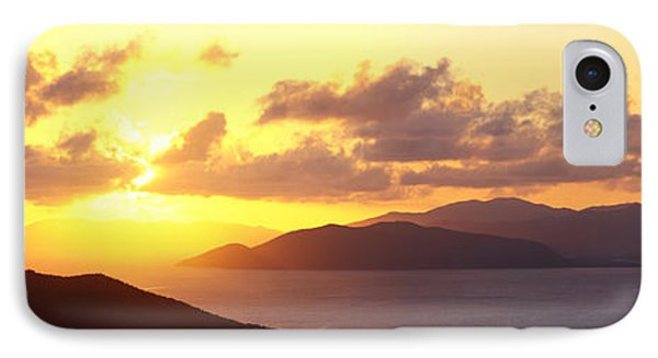 Sunset Virgin Gorda British Virgin IPhone Case by Panoramic Images