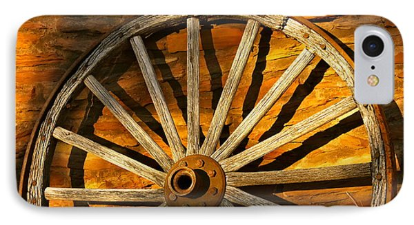 Sunset Wagon Wheel IPhone Case by Michael Cinnamond