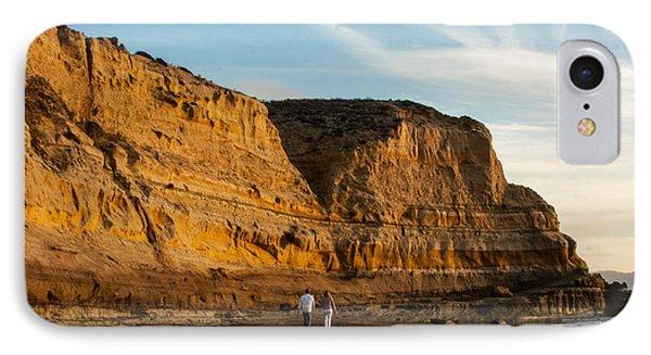 Sunset Walk At Flat Rock  La Jolla California IPhone Case by Darleen Stry