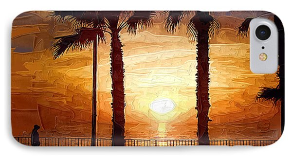 Sunset Walk IPhone Case by Kirt Tisdale