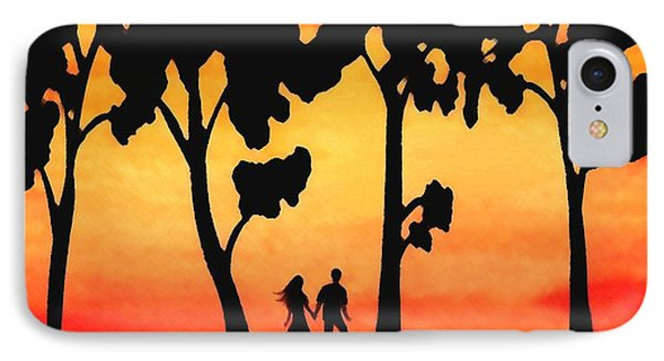 Sunset Walk Phone Case by Sophia Schmierer