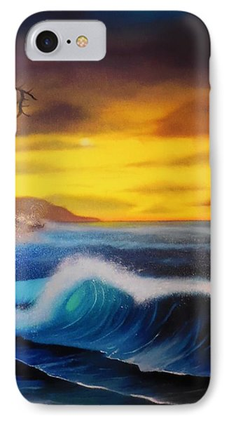 Sunset Wave Phone Case by Charles Eagle