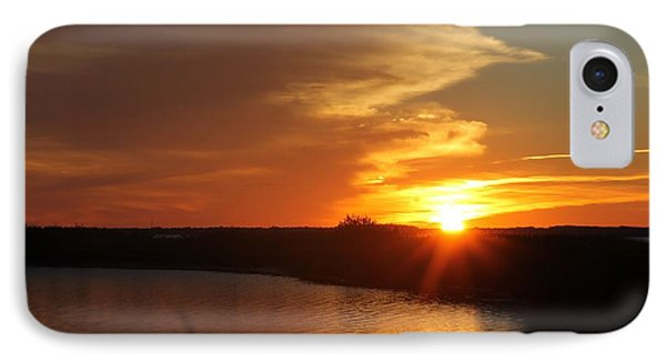 IPhone Case featuring the photograph Sunset Wetlands by Robert Banach