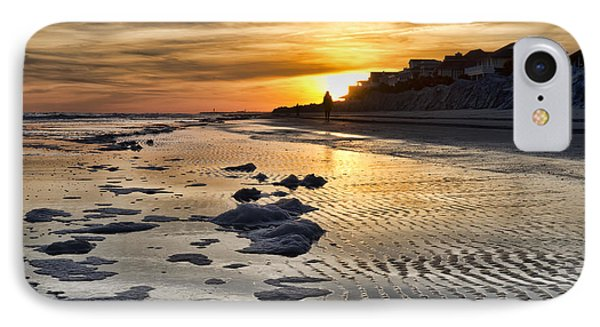 Sunset Wild Dunes Beach South Carolina IPhone Case by Evie Carrier