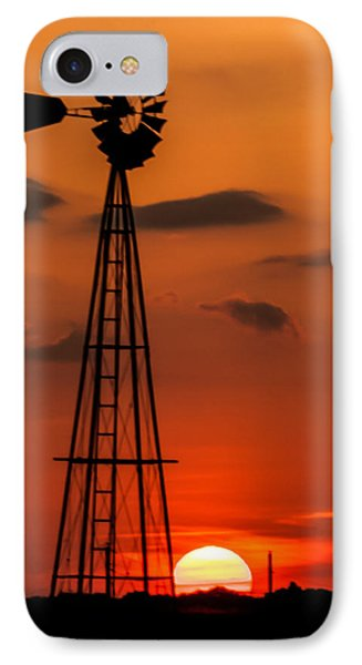 Sunset Windmill IPhone Case by Jay Stockhaus
