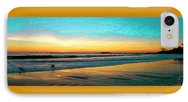 Sunset With Birds Phone Case by Ben and Raisa Gertsberg