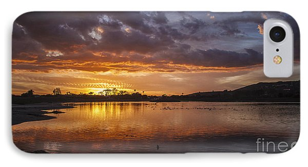 Sunset With Clouds Over Malibu Beach Lagoon Estuary IPhone Case