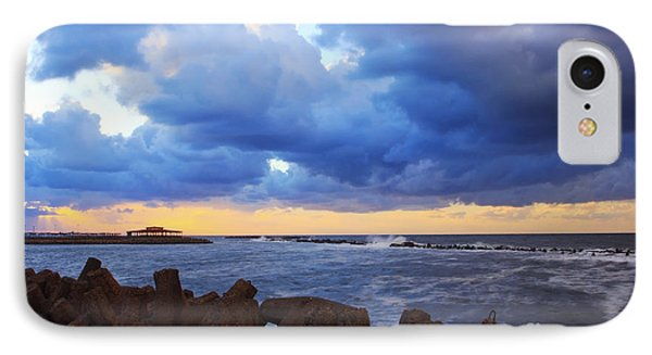 Sunset With Cloudy Sky  IPhone Case by Mohamed Elkhamisy
