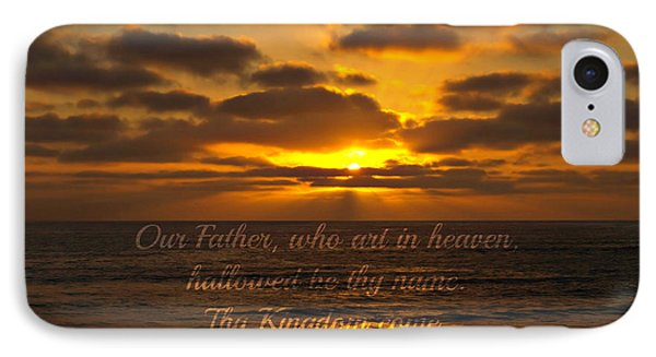 Sunset With Prayer IPhone Case by Sharon Soberon
