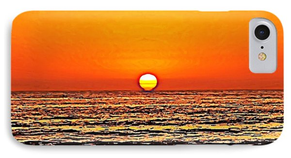 Sunset With Seagull IPhone Case by Sharon Soberon