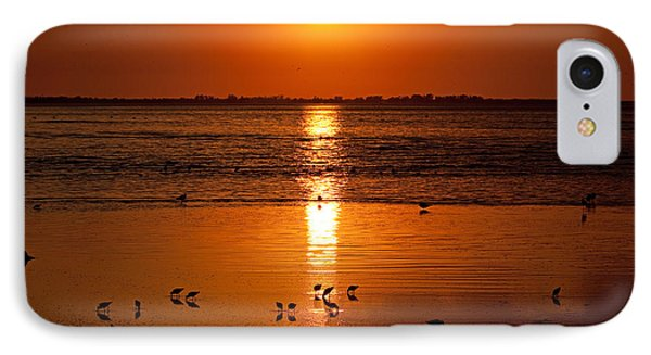 IPhone Case featuring the photograph Sunset With The Birds Photo by Meg Rousher
