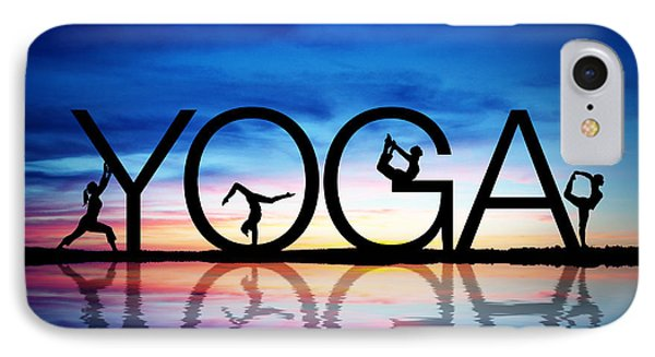 Sunset Yoga IPhone Case