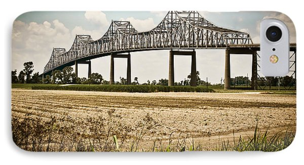 IPhone Case featuring the photograph Sunshine Bridge Mississippi Bridge by Ray Devlin