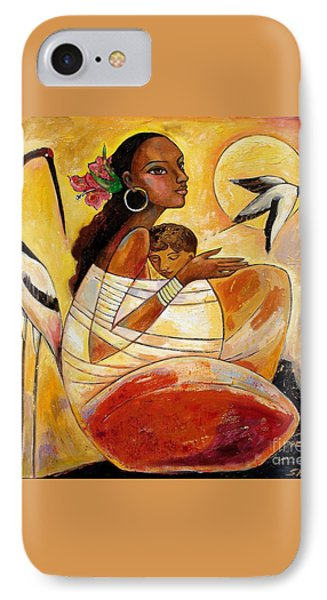 Sunshine Mother And Child Phone Case by Shijun Munns