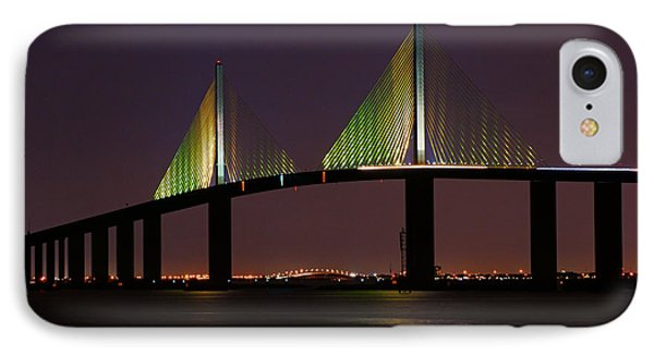Sunshine Skyway At Dusk IPhone Case