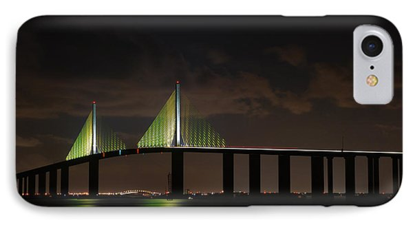 Sunshine Skyway Bridge IPhone Case by Beverly Stapleton