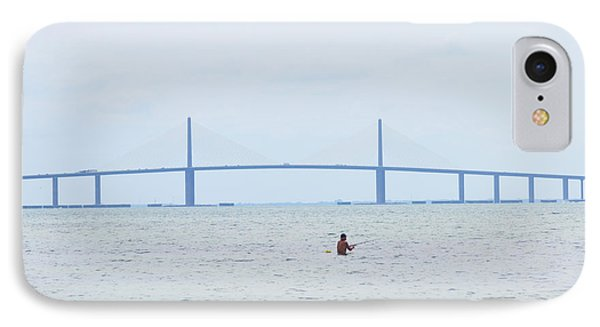 Sunshine Skyway Bridge IPhone Case by Bill Cannon