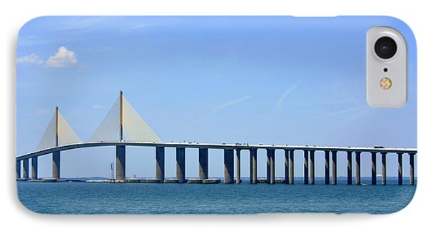Sunshine Skyway Bridge II Tampa Bay Florida Usa Phone Case by Sally Rockefeller
