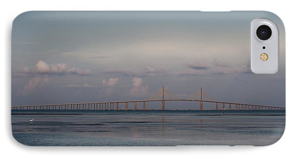 Sunshine Skyway Bridge IPhone Case by Steven Sparks