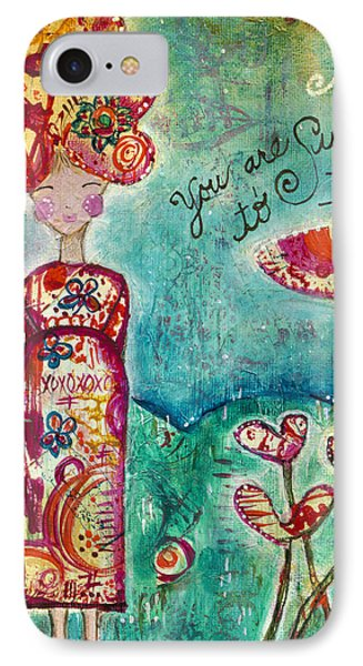 Sunshine To Infinity IPhone Case by Kirsten Reed