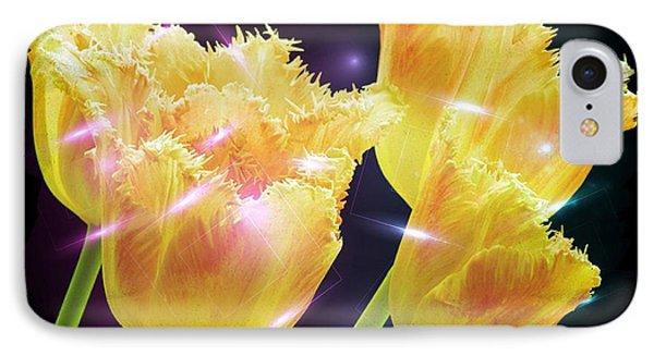 Sunshine Tulips Phone Case by Debra  Miller