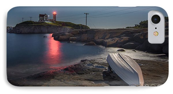 Super Moon Over Nubble IPhone Case by Scott Thorp