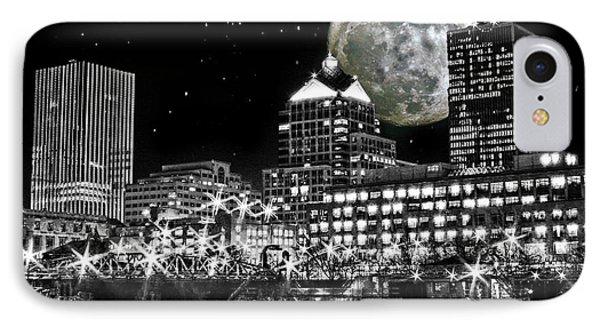 Super Moon Over Rochester IPhone Case by Richard Engelbrecht