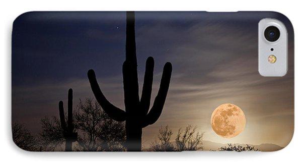 Super Moon Over Sonoran Desert IPhone Case