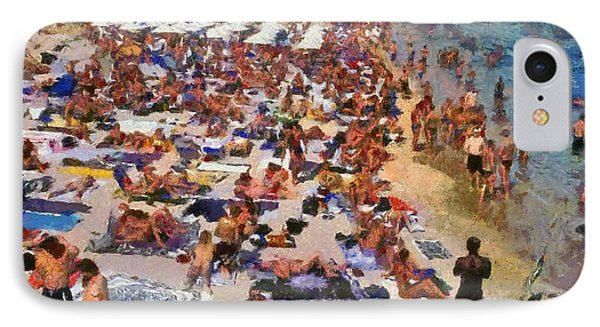Super Paradise Beach In Mykonos Island Phone Case by George Atsametakis