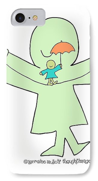Super-self Umbrella Balance IPhone Case