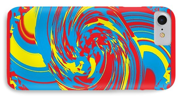 IPhone Case featuring the painting Super Swirl by Catherine Lott
