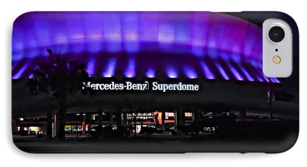 Superdome Night Phone Case by Steve Harrington