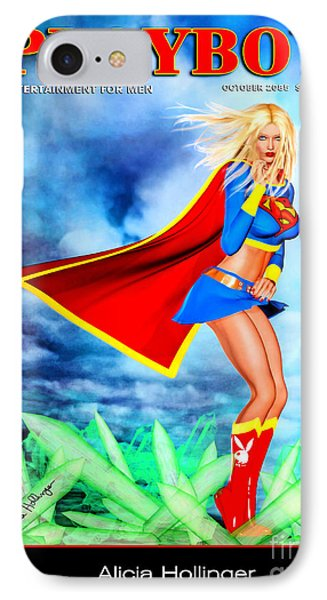 Supergirl 2085 IPhone Case by Alicia Hollinger