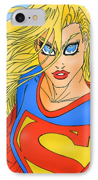 Supergirl IPhone Case by Mark Rogan
