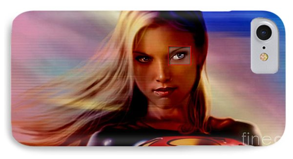 Supergirl IPhone Case by Marvin Blaine