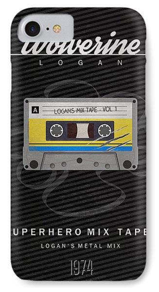 Superhero Mix Tapes - Wolverine IPhone Case