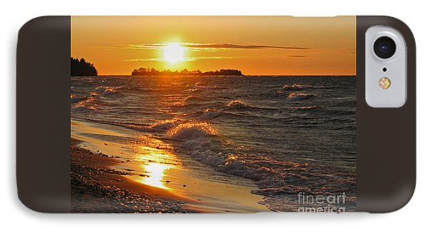 IPhone Case featuring the photograph Superior Sunset by Ann Horn