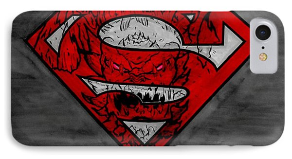 Superman And Doomsday R G IPhone Case by Justin Moore