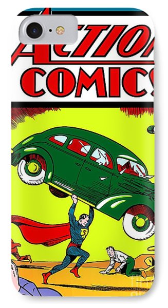 Superman Comic Book -1938 IPhone Case by Doc Braham