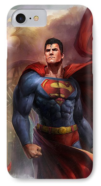 Man Of Steel IPhone Case by Steve Goad