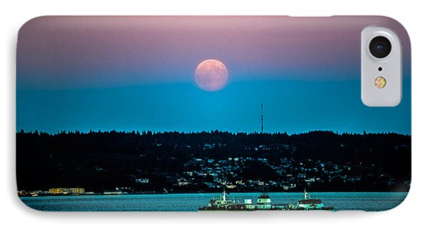 Supermoon Rises Over Puget Sound 2 IPhone Case by Ronda Broatch