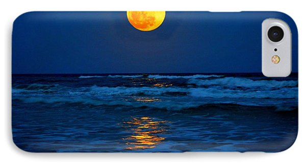 Supermoon Rising On Navarre Beach 20120505c IPhone Case by Jeff at JSJ Photography